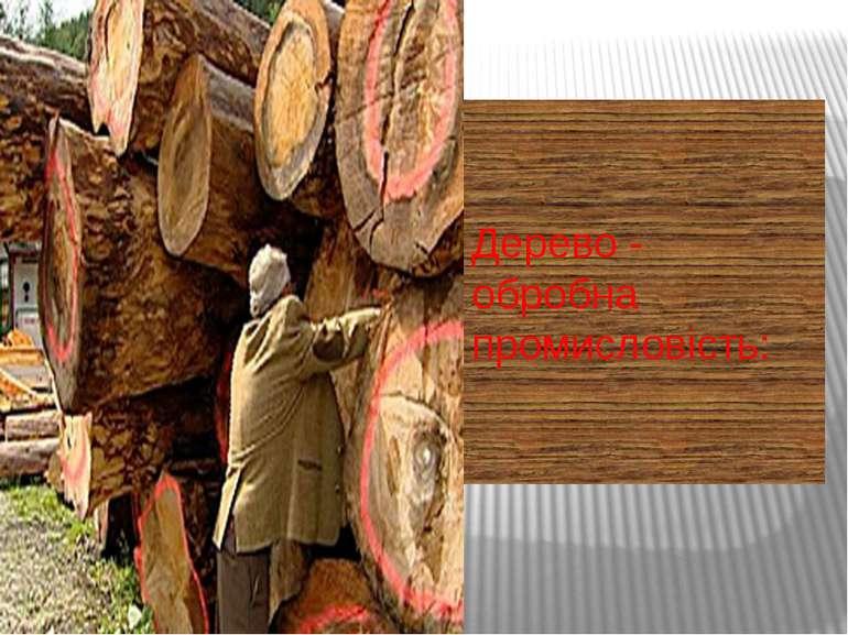 Дерево - обробна промисловість: