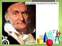 Карл Фрідріх Гаус (30.04.1777-23.02.1855)