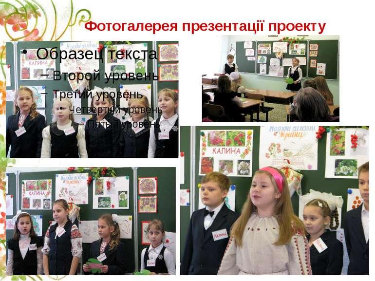 Фотогалерея презентації проекту