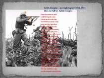 Keith Douglas - an English poet (1920-1944) How to Kill by Keith Douglas Unde...