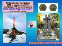 Могила бійців на Лук'янівському цвинтарі Меморіал битви під Крутами 1918р. (...