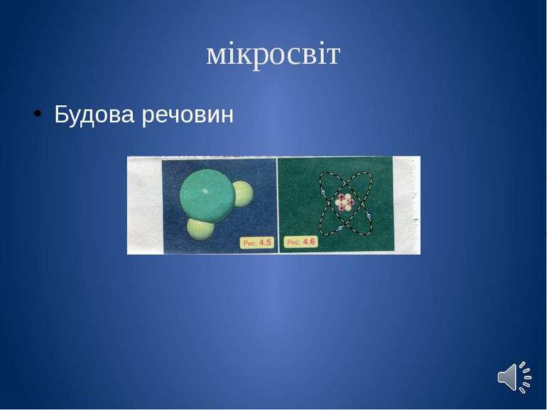 мікросвіт Будова речовин
