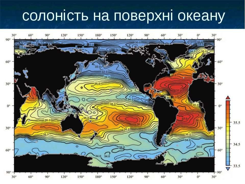 солоність на поверхні океану
