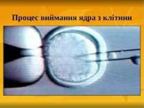 Процес виймання ядра з клітини