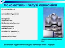 Локомотивні галузі економіки За текстом підручника наведіть приклади країн - ...