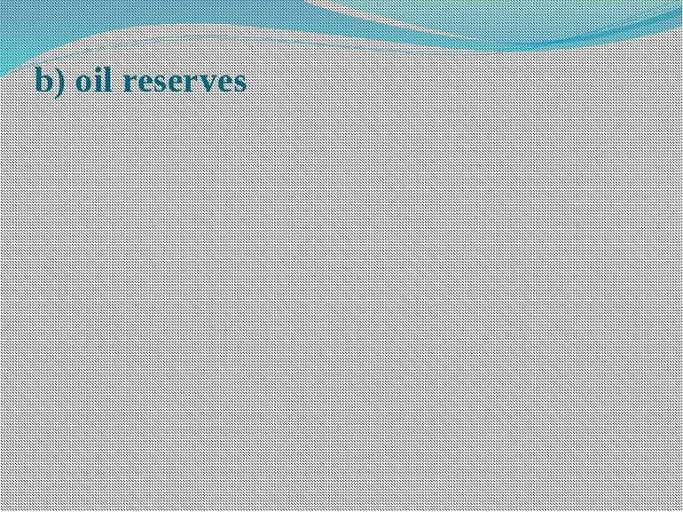 b) oil reserves