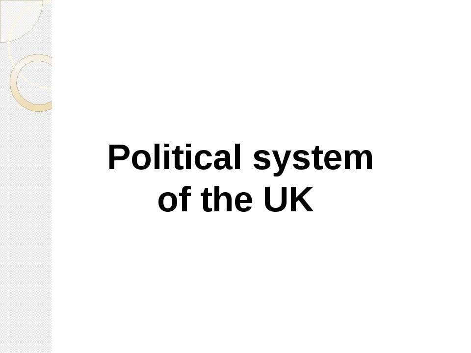 Political system of the UK