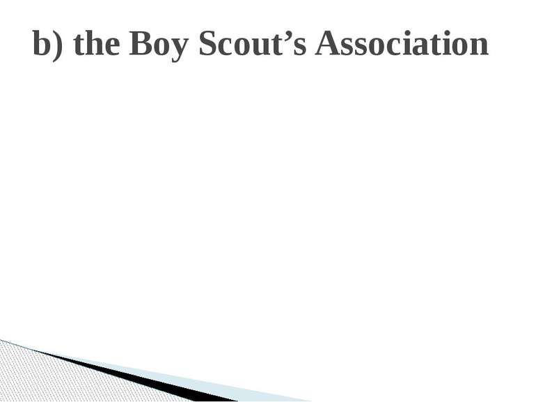 b) the Boy Scout's Association