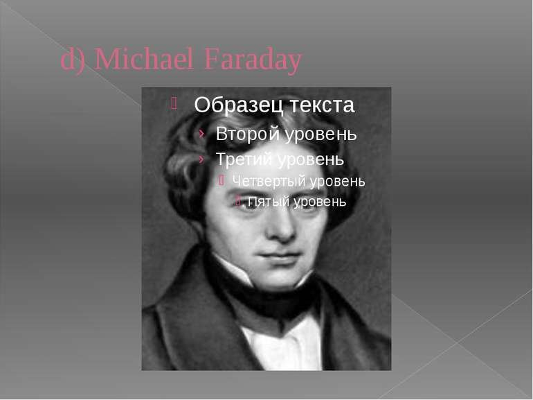 d) Michael Faraday