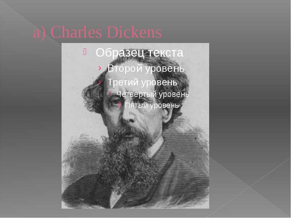 a) Charles Dickens