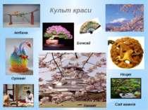 Культ краси Нецке ікебана Ханамі Бонсай Сад камнів Орігамі