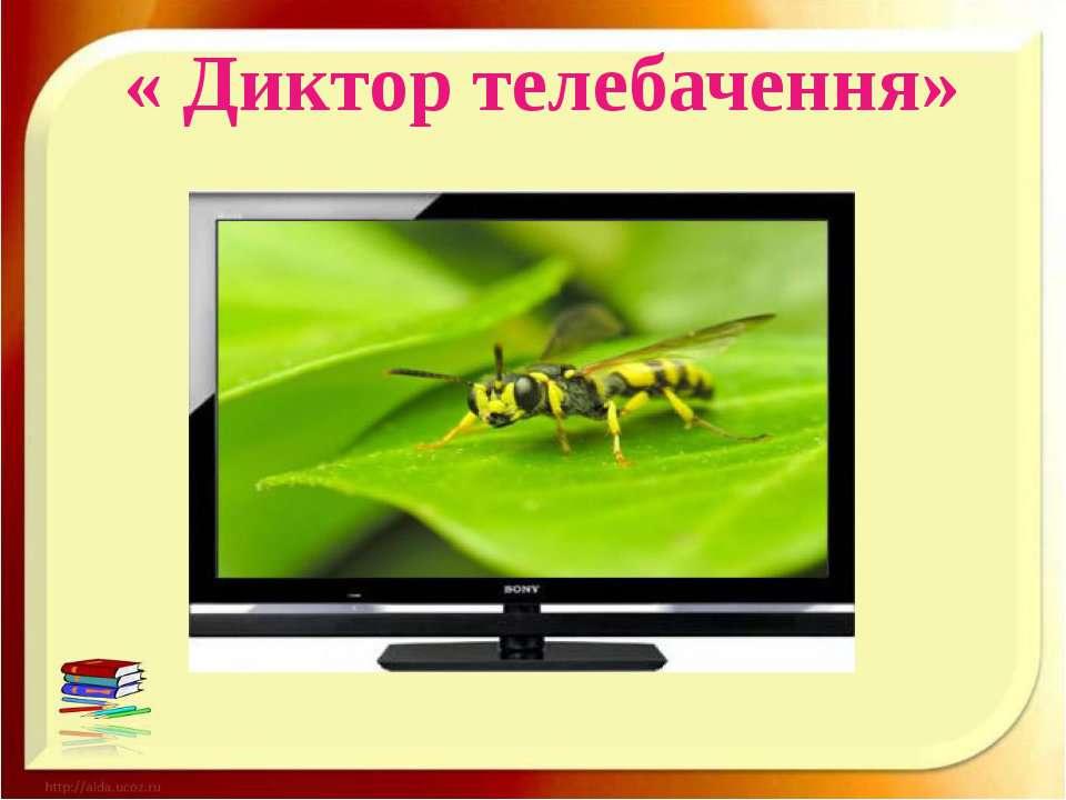 « Диктор телебачення»