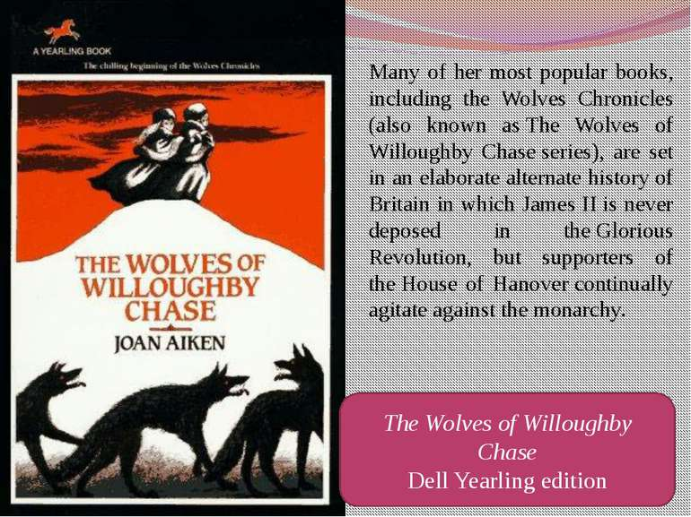Many of her most popular books, including the Wolves Chronicles (also known a...