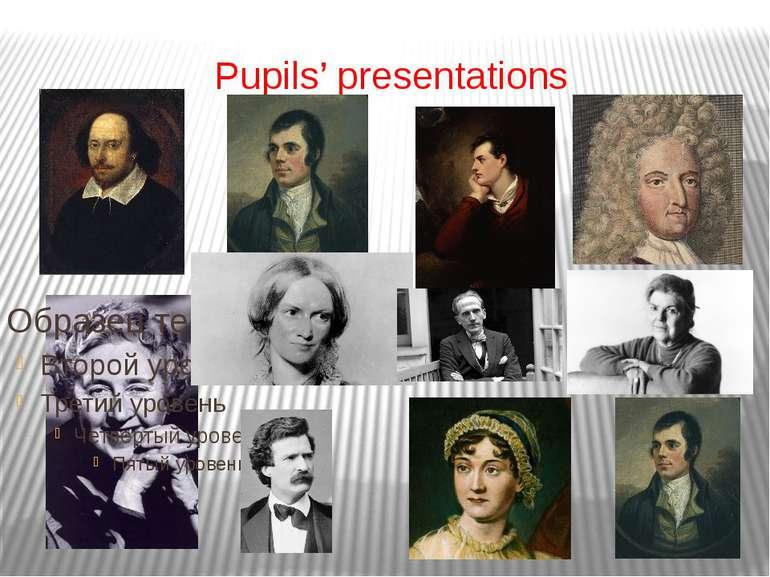 Pupils' presentations