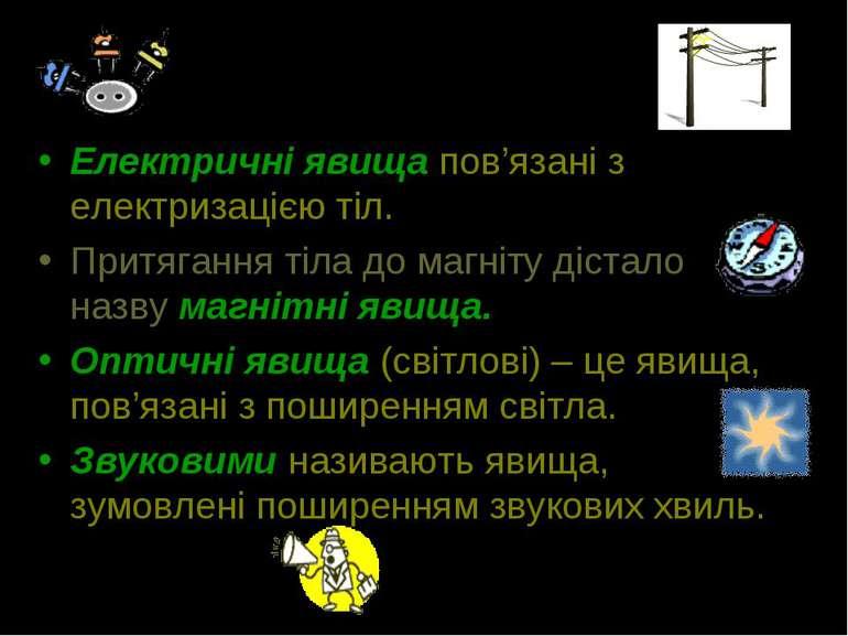 Електричні явища пов'язані з електризацією тіл. Притягання тіла до магніту ді...