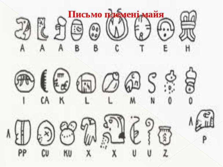 Письмо племені майя