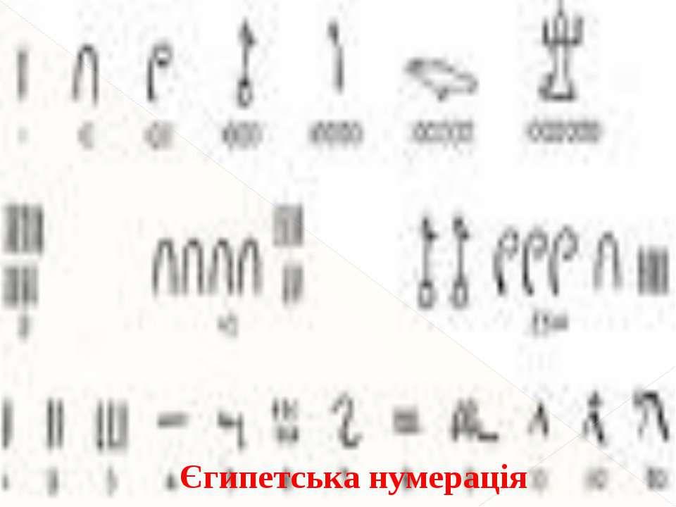 Єгипетська нумерація