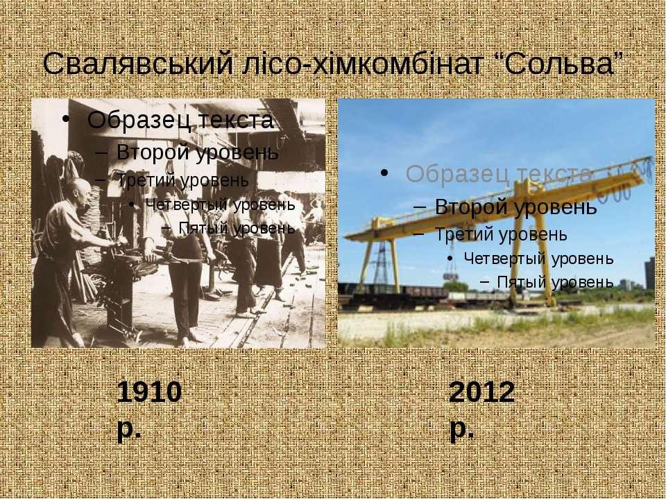 """Свалявський лісо-хімкомбінат """"Сольва"""" 1910 р. 2012 р."""