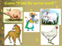 "Game ""Find the secret word!"" 1. 2. 3. 4. 5."