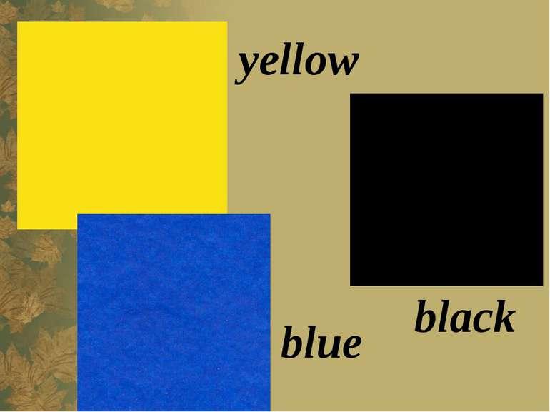 black yellow blue
