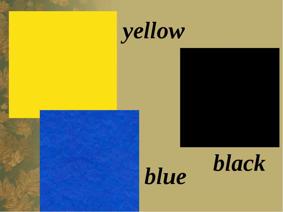 black yellow blue