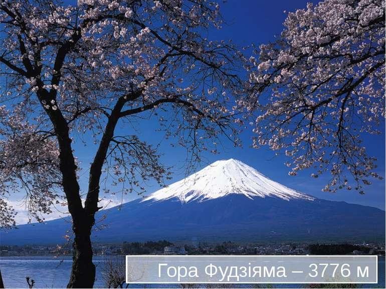 Гора Фудзіяма – 3776 м
