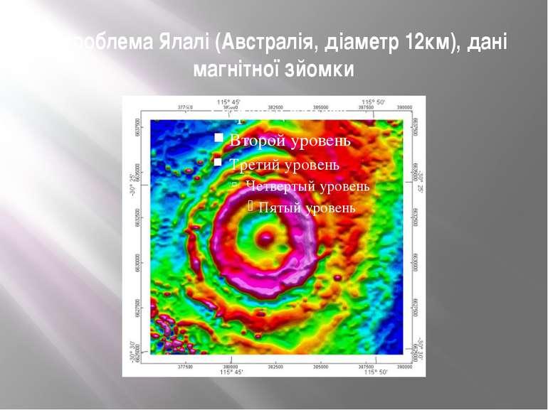 Астроблема Ялалі (Австралія, діаметр 12км), дані магнітної зйомки