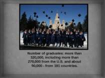 Number of graduates: more than 320,000, including more than 270,000 from the ...