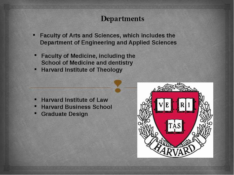 Departments Faculty of Arts and Sciences, which includes the Department of En...