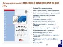 Системи охорони здоров'я: можливості надання послуг на рівні PHC Виявити TB т...