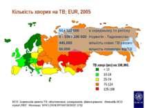 Кількість хворих на TB; EUR, 2005 ВОЗ Боротьба проти ТВ: обстеження, плануван...