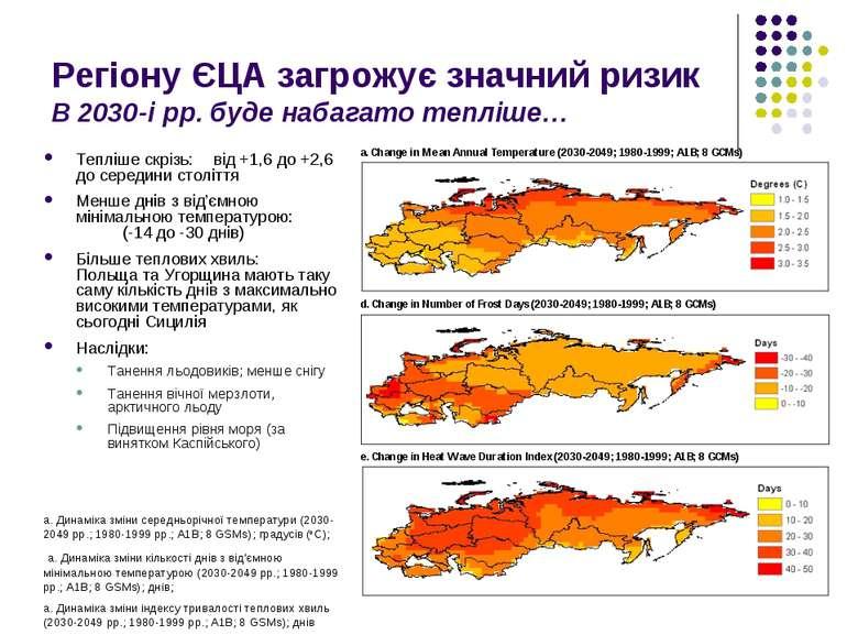 Регіону ЄЦА загрожує значний ризик В 2030-і рр. буде набагато тепліше… Тепліш...