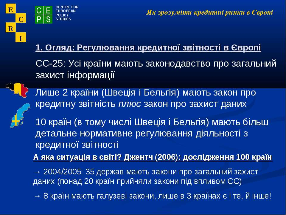 Як зрозуміти кредитні ринки в Європі ЄС-25: Усі країни мають законодавство пр...