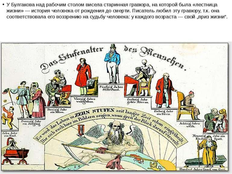 У Булгакова над рабочим столом висела старинная гравюра, на которой была «лес...