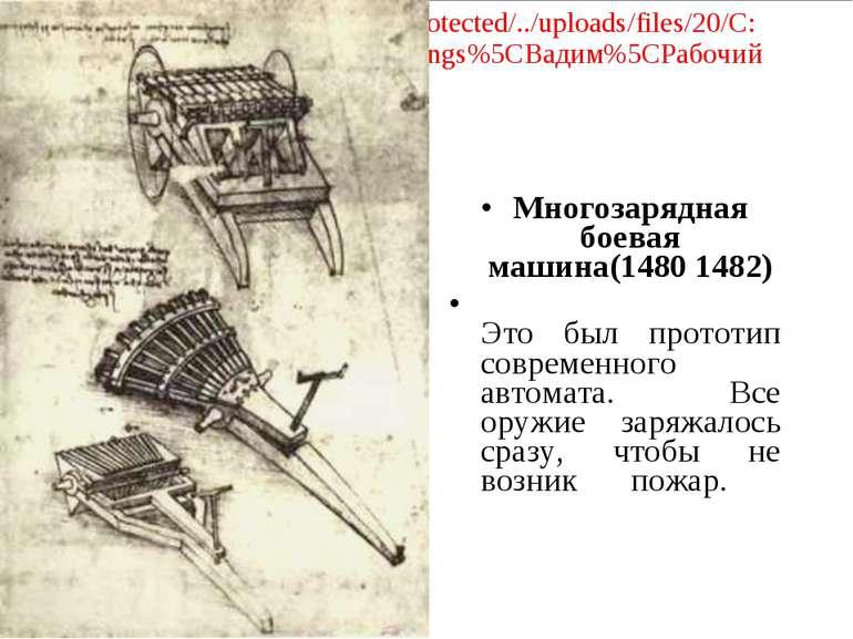 Многозарядная боевая машина(1480 1482) Это был прототип современного автомата...