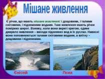 Є річки, що мають мішане живлення:і дощовими, і талими сніговими, і підземни...