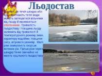 Ділянки, де течія швидка або куди притікають теплі води можуть залишатися віл...