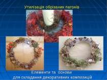 Елементи та основи для складання декоративних композицій Утилізація обрізаних...