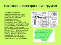 Нагрівання електричним струмом Електричний спосіб передбачає використання теп...