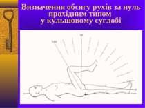 Визначення обсягу рухів за нуль прохідним типом у кульшовому суглобі