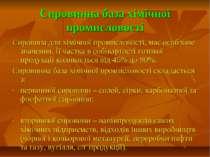 Сировинна база хімічної промисловості Сировина для хімічної промисловості, ма...