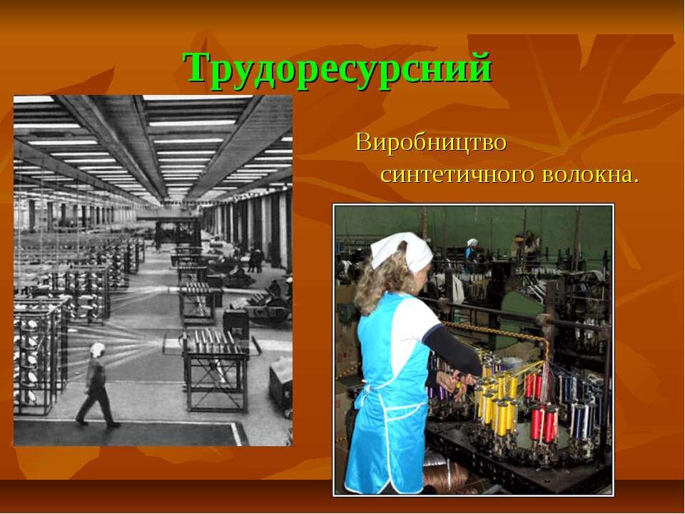 Трудоресурсний Виробництво синтетичного волокна.
