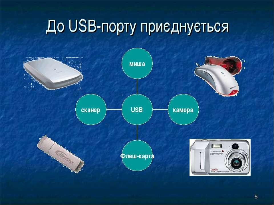 * До USB-порту приєднується