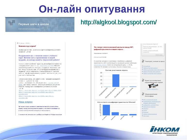 Он-лайн опитування http://algkool.blogspot.com/