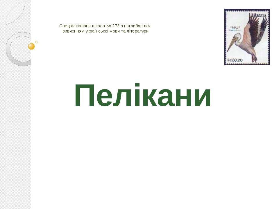 Спеціалізована школа № 273 з поглибленим вивченням української мови та літера...