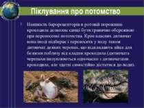Піклування про потомство Наявність барорецепторів в ротовій порожнині крокоди...