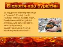 За кордоном відомі родовища в Примор'ї (Росія), Італії, Польщі, М'янмі, Канад...