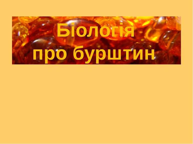 Біологія про бурштин