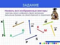 Назвать все изображенные векторы ((векторы можно изображать двумя заглавными ...