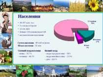 Населення 48.457 млн. чол. 5-е місце в Європі 21-е в світі більше 130 націона...